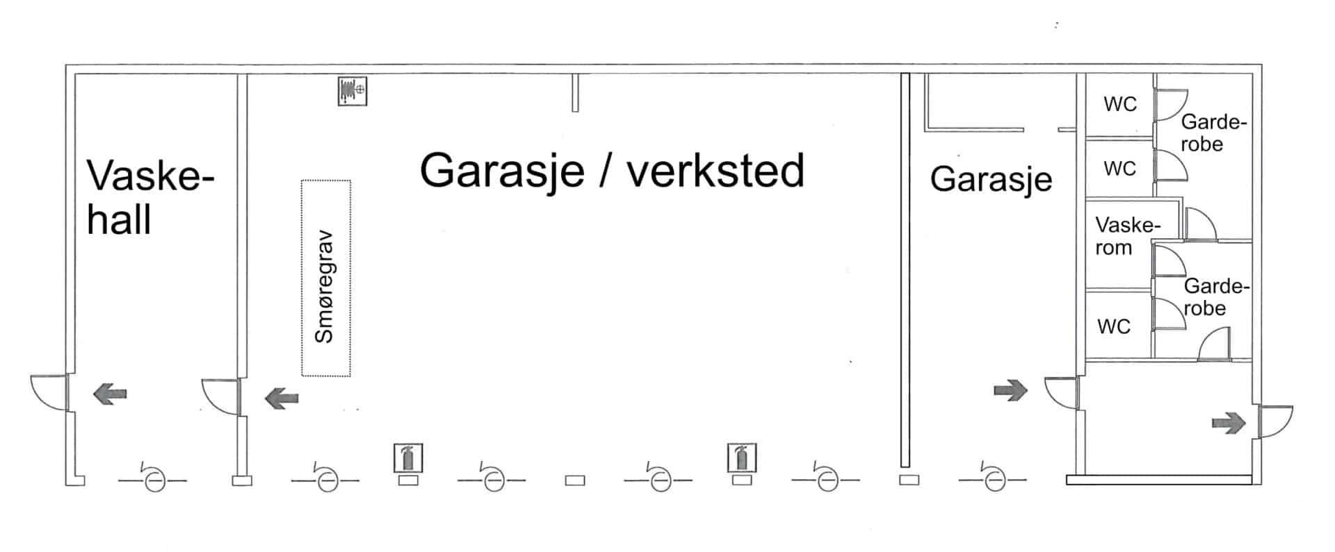 Garasjebygg til leie på Harestua